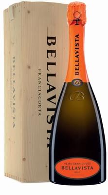 Bellavista Alma Grande Cuvée Brut + Houten Kist 3,00 ltr.
