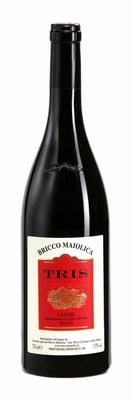 Bricco Maiolica Langhe Rosso Tris DOC 2017 0,75 ltr.