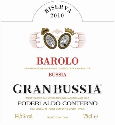 Conterno Aldo Barolo Riserva Gran Bussia DOCG 2010 0,75 ltr.