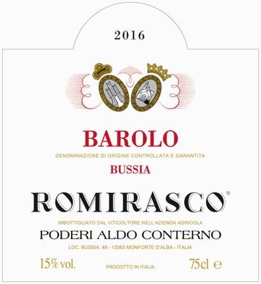 Conterno Aldo Barolo Romirasco DOCG 2015 0,75 ltr.