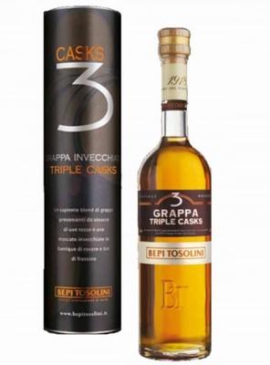 Bepi Tosolini Grappa Triple Cask 40% vol. 0,50 ltr.