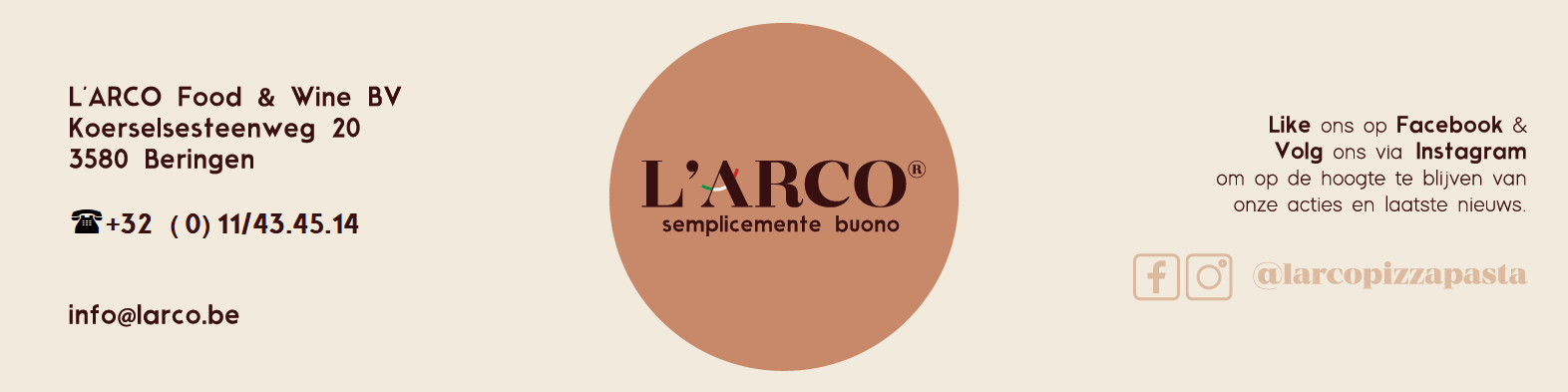 L'ARCO Banner